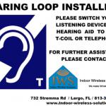 Hearing Loop sign