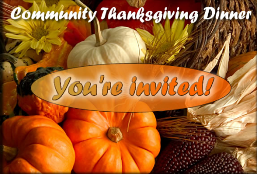 Community thanksgiving dinner nov 19th faith lutheran church for Thanksgiving dinner with all the trimmings